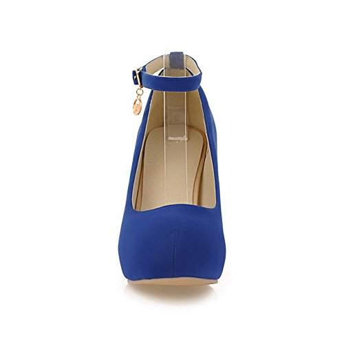 Shoes Uppers Blue Heels Cut Chunky Urethane Pumps Low BalaMasa Charms Womens zw7ppqZ