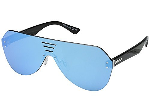 VonZipper Unisex Alt-Farva Black Gloss/Flash Sky Blue - Sunglasses Alt