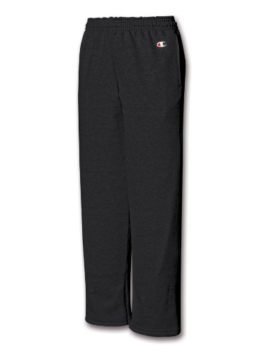 - Champion D243 Youth 50/50 Open Bottom Sweatpants - Black - X-Large