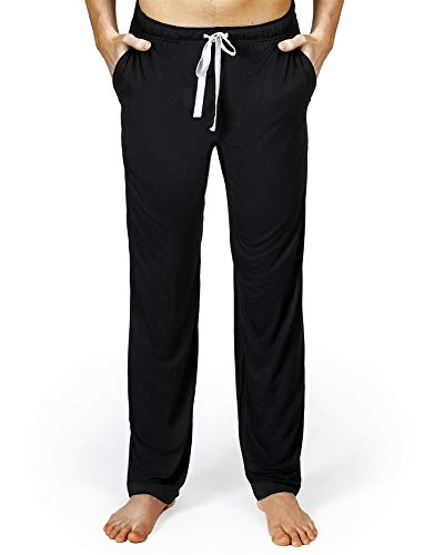 (Bamboo Pajama Pants, PJ Bottoms. Loose Sleepwear, Yoga or Lounge Pants for Men)