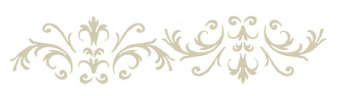 Victorian Baroque Border Stencil | DIY Home Decor Stencils | 7.5 mil | Paint Stencil for Walls, Furniture, Floors