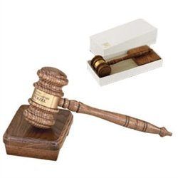 13-1/2 Gavel with Sound Block, Oak Style by Gavel