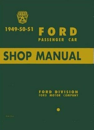 1949 1950 1951 Ford Mercury Car Service Shop Repair Manual (with Decal)