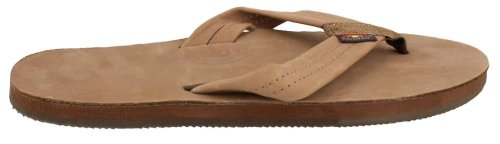 Rainbow Single Layer Leather Sandal - Men's