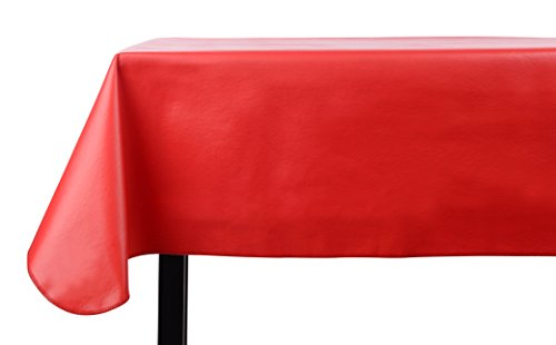 Yourtablecloth Heavy Duty Vinyl Rectangle or Square Tablecloth