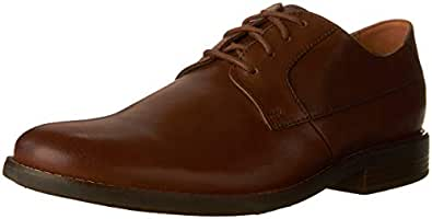 Clarks BECKEN Plain Men's Dress Shoes, TAN Leather G, 6 AU