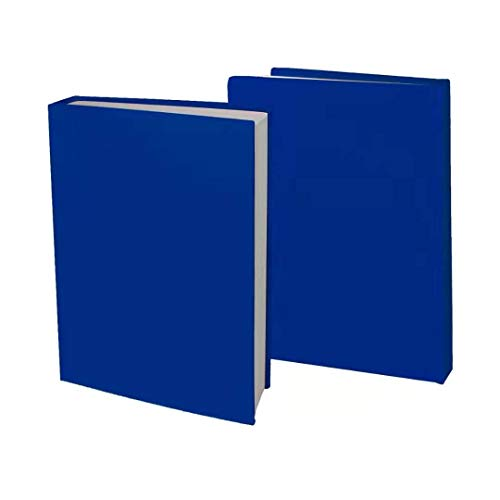 """2 Pack Stretchable Jumbo Book Covers, Washable Durable Reusable Book Protector fits Hardcover Textbooks up to 9.5"""" X 14"""" Office Supplies with Free Sticker Labels (2 Pack, Blue)"""