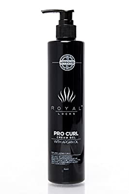Curl Cream Gel by Royal Locks. Large 12.8 oz. Size. One Curly Hair Product Hybrid of Defining Gel Hold, Cream Moisture, Argan Oil Infused Anti Frizz. Get Perfect Soft Frizz Free Waves and Curls.