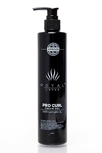 Curl Cream Gel by Royal Locks. Professional Curly Hair Product Defining Cream Moisture Gel Hold and Argan Oil Infused Anti Frizz. Perfect Bounce Soft Frizz Free Waves Natural Curls or Perm (Best Gel For Curly Frizzy Hair)