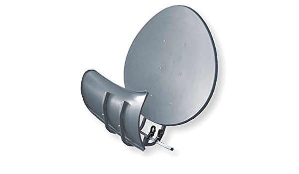Wavefrontier - Antena parabólica toroide T90 P – Gris oscura – Antena multienfoque – Incluye 5 unidades de soporte LNB – Última generación
