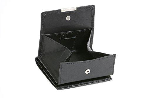 Portafoglio Piccolo Boxed Style LEAS, Vera Pelle, nero - ''LEAS Special Edition''