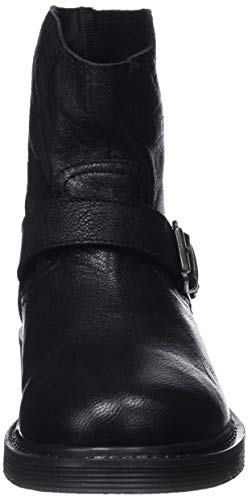 Bottes Noir 001 Femme Real Black Bottines Motardes Mamatayoe et Sarah Leather OvWxPPn5