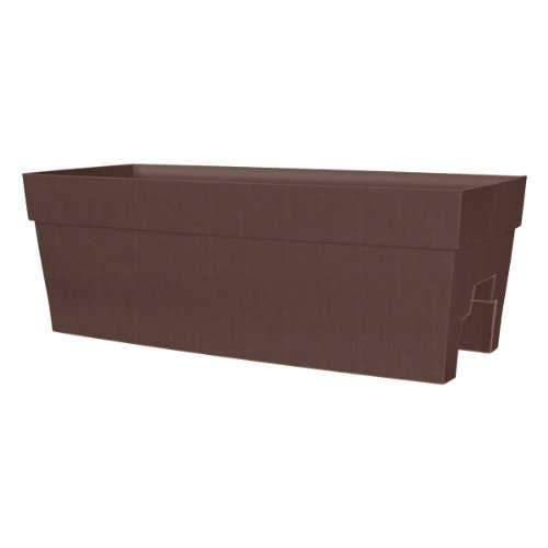 DCN Plastic 3527-11 Harmony Rail Planter, Brown (Discontinued by Manufacturer) by DCN Plastic