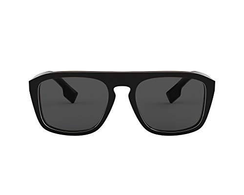 Burberry Men's 0BE4286-sunglasses, Black Multilayer Check/Grey, One Size from BURBERRY