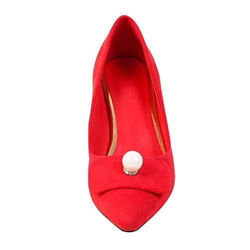 EU MMS06312 1TO9 Sandales 36 5 Femme Red Rouge Compensées qUUr8Fd