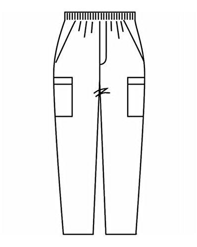 Zipper Front Scrub Pant - 4
