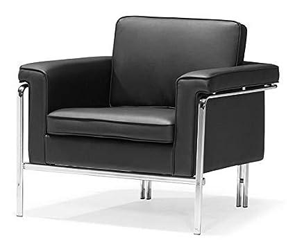 Wondrous Amazon Com Mikash Modern Chrome Lounge Arm Chair Wrapped In Machost Co Dining Chair Design Ideas Machostcouk