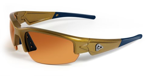NFL St. Louis Rams Dynasty Sunglasses, Gold/Blue