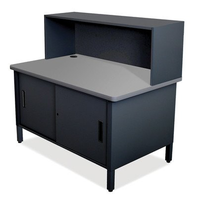 Mailroom Utility Table with Cabinet Finish: Black by Marvel