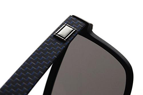 Mysandy Fiber Carbon Sunglasses for Men &Women UV400 Protection Square Sunglasses Fashion Outdoor Glasses Middle Size Ultra Light Black by Mysandy (Image #6)