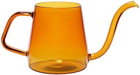 コーヒーポット 300MLロングスパウトコーヒーポットの高ホウケイ酸ガラスコーヒーケトルの範囲を絞ります 自宅や珈琲店に最適 (Color : Blue, Size : 19x8x11cm)