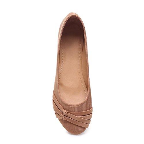La Modeuse - Bailarinas para mujer marrón claro