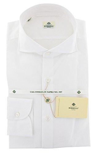 new-luigi-borrelli-white-solid-slim-shirt