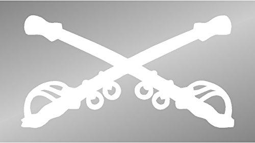 Cavalry Sticker - Sassy Stickers US Army Cavalry Crossed Sabers Decal Window Sticker
