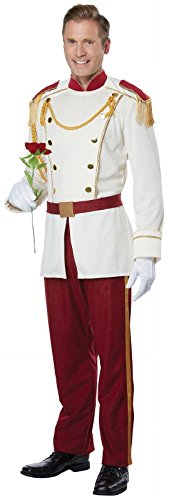 California Costumes Men's Royal Storybook Prince Adult Man Costume, Cream/Chocolate red, -