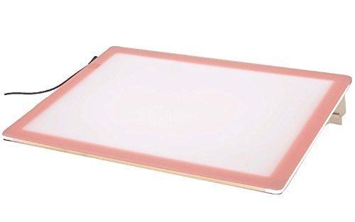 【日本製】【薄型 8mm】【10段階調光機能付き】A4サイズ ピンク色 LED 薄型トレビュアー トレース台 (3段階傾斜) A4-410   B00PXEEYC8