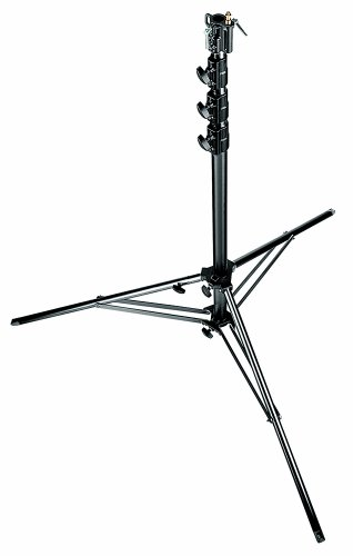Manfrotto 269BU 14.9-Feet Super Aluminium Stand with Leveling Leg (Black) by Manfrotto