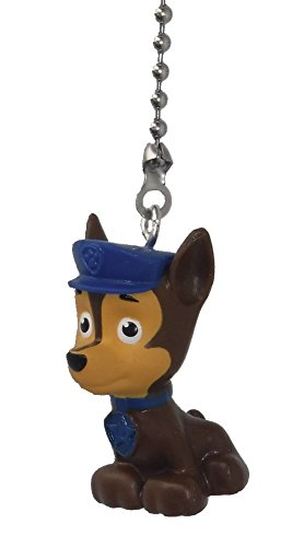 Paw Patrol Puppy Dog Ceiling Fan Pull (CHASE - Brown Police dog with blue hat) by Knight
