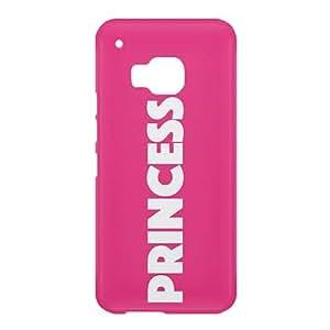 Loud Universe HTC One M9 Princess Print 3D Wrap Around Case - Pink/White