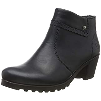 Rieker Damen Stiefeletten M8081, Frauen Ankle Boots, Stiefel halbstiefel Bootie knöchelhoch reißverschluss Damen Frauen,Navy / 14,37 EU / 4 UK 13