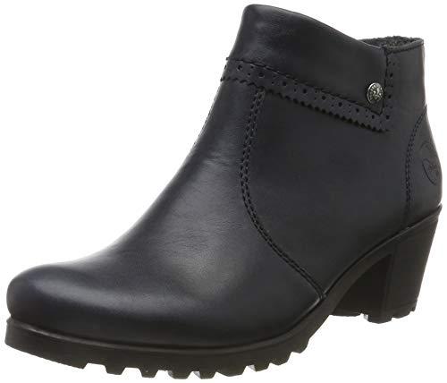 Rieker Damen Stiefeletten M8081, Frauen Ankle Boots, Stiefel halbstiefel Bootie knöchelhoch reißverschluss Damen Frauen,Navy / 14,37 EU / 4 UK 1