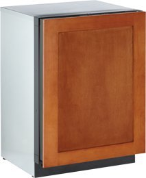 """U-line 3024RFOL01: Overlay Panel Left-hand 3000 Series / 24"""" Solid Door Refrigerator Model / Digitally controlled single-zone convection cooling system"""