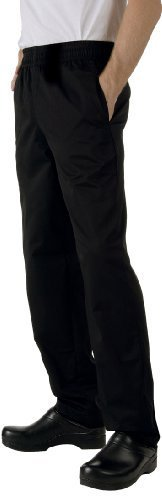 Chef Works NBBP Basic Baggy Chef Pants, Black, 4X-Large by Chef Works