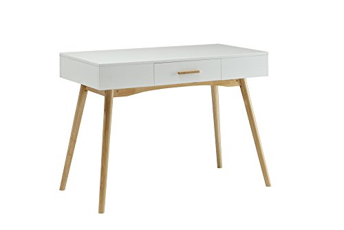 Rochester Leg Table - Convenience Concepts Oslo 1-Drawer Desk, White
