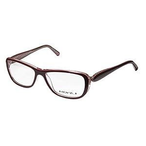 Koali 7184k Womens/Ladies Prescription Ready High-class Designer Full-rim Eyeglasses/Glasses (53-14-130, Plum / Transparent Rose)