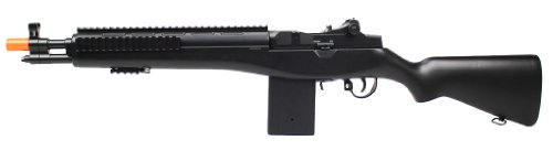 enhanced 2012 full auto electric fps-330 m14 aeg fully automatic and semi automatic airsoft electric gun w/ rail system! 34 inches long! free high capacity magazine, ready to go right (Fully Automatic Pistol)