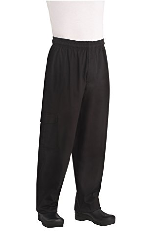 Chef Works Mens J54 Cargo Chef Pants, Black, Large by Chef Works
