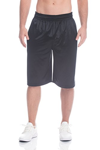 Style Mens Basketball Shorts (Above The Rim Men's Mesh Basketball Shorts - Workout & Gym Shorts For Men - Starting 5 - Black, Large)