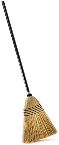 Heavy-Duty Upright Sweeper for Indoor and Outdoor Cleaning Pine-Sol Corn Broom with Metal Handle