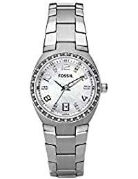 Women's AM4141 Serena Silver-Tone Stainless Steel Watch with Link Bracelet