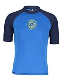 Kanu Surf Mens Sprint UPF 50+ Sun Protective Rashguard Swim Shirt Rash Guard Shirt