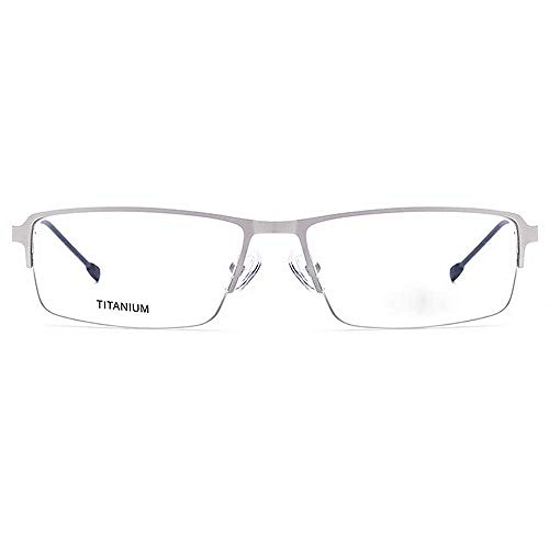 sans Noir cadre de lentille carrée monture designer Flexible la Alliage fibre léger titane nouveauté forme transparente Couleur semi avec lunettes nuances acétate Argent brillants lunettes alliage xPqwqCST7X