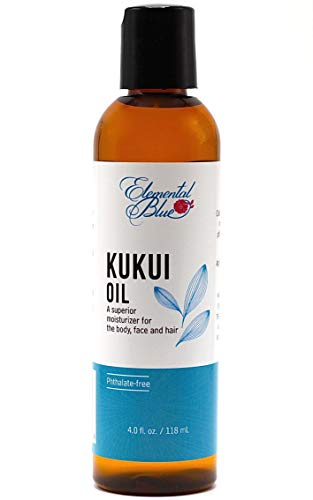 - Elemental Blue Kukui Nut Oil 4 oz. Bottle, Cold Pressed, Light Lime Scent. Moisturizing Oil for Body, Face and Hair. High in Essential Fatty Acids. Nourish, Hydrate and Protect Your Skin and Hair!