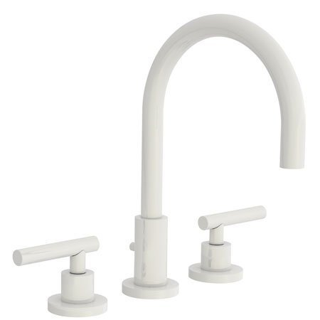 Newport Brass 990L East Linear Double Handle Widespread Lavatory Faucet with Met, Biscuit