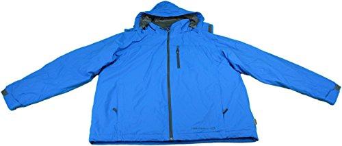 Free Country Men's Size Medium Wind Resistant Dobby Jacket, Blue