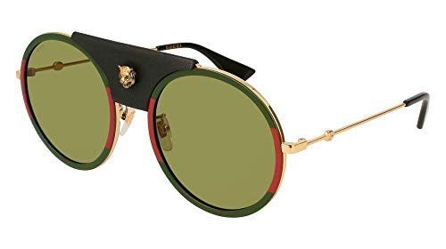 Gucci Green Sunglasses GG0061S 017 56